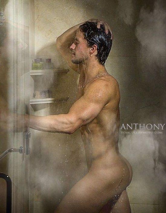 Gay men action in shower
