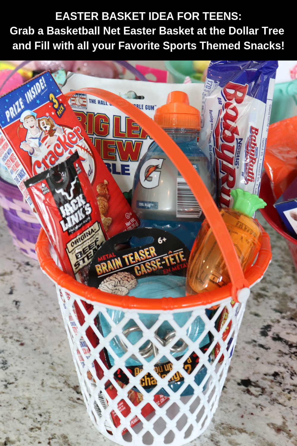 Easter Basket Ideas For Teen Boys Love This Sports Themed