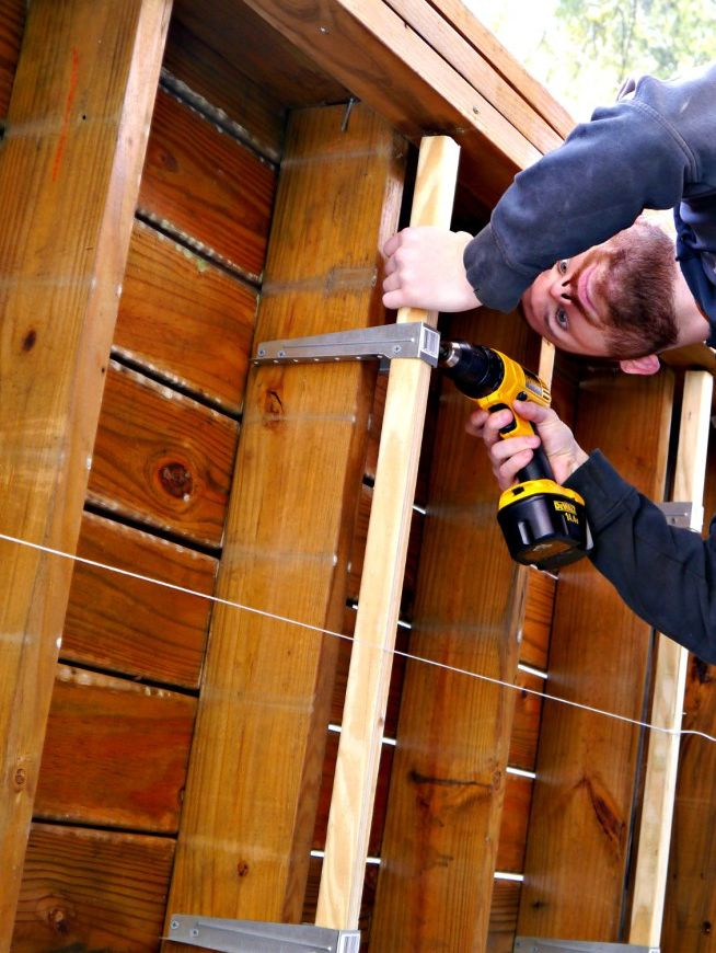 Installing Duodeck Brackets Under Deck Ceiling Building