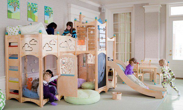 hide away indoor play wood | Beds With Slides