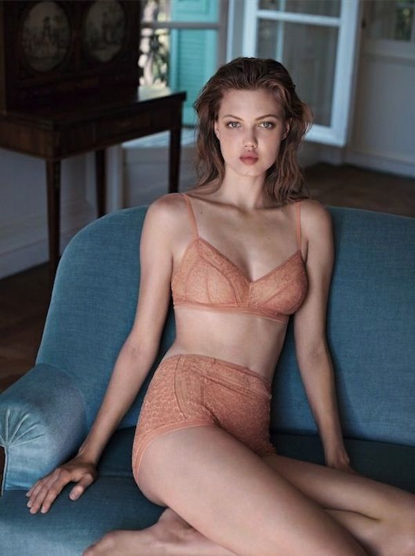 Lindsey Wixson in Lingerie Campaign