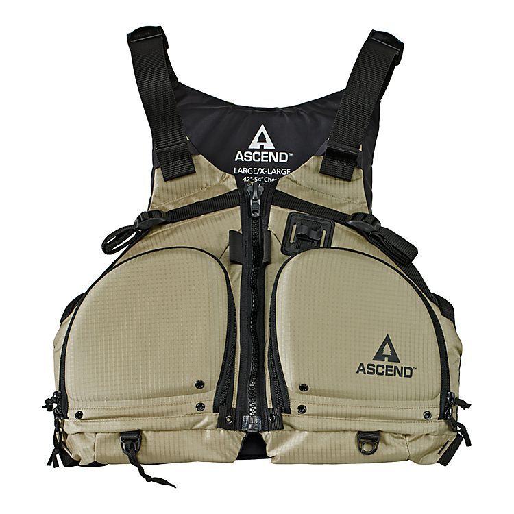 Ascend paddling fishing life jacket bass pro shops the for Bass pro shop fishing kayaks