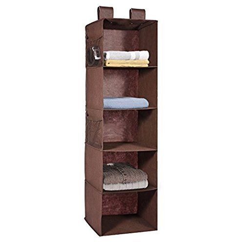 Superior MaidMax 6 Shelves Hanging Wardrobe Organiser Storage Unit For Sweater  Clothes  Beige