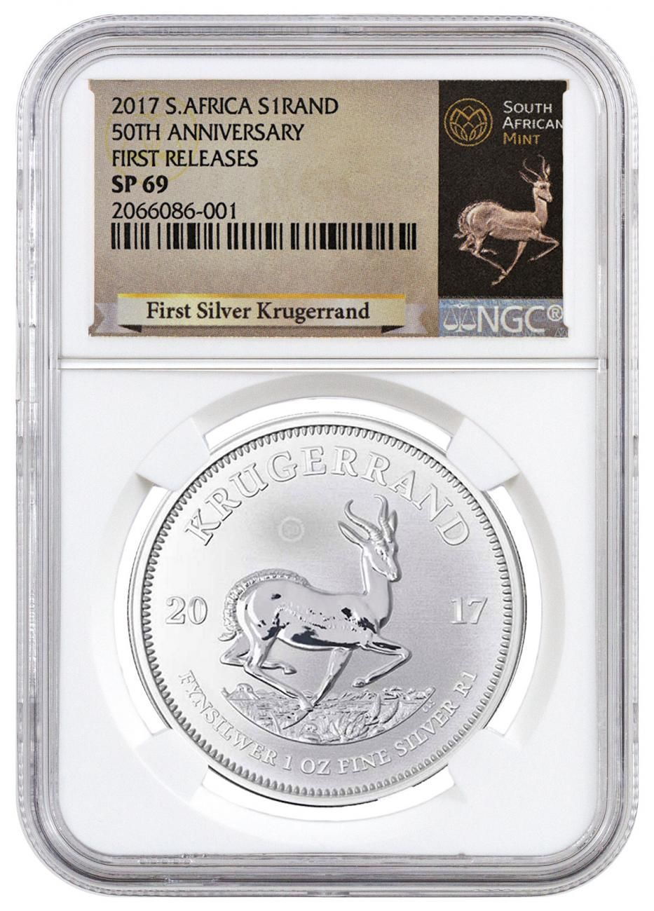 2017 1 Oz South Africa Krugerrand 999 Silver Coin Ngc Sp69 First Releases Exclusive Krugerrand Label Silver Krugerrand Silver Coins Silver Eagle Coins