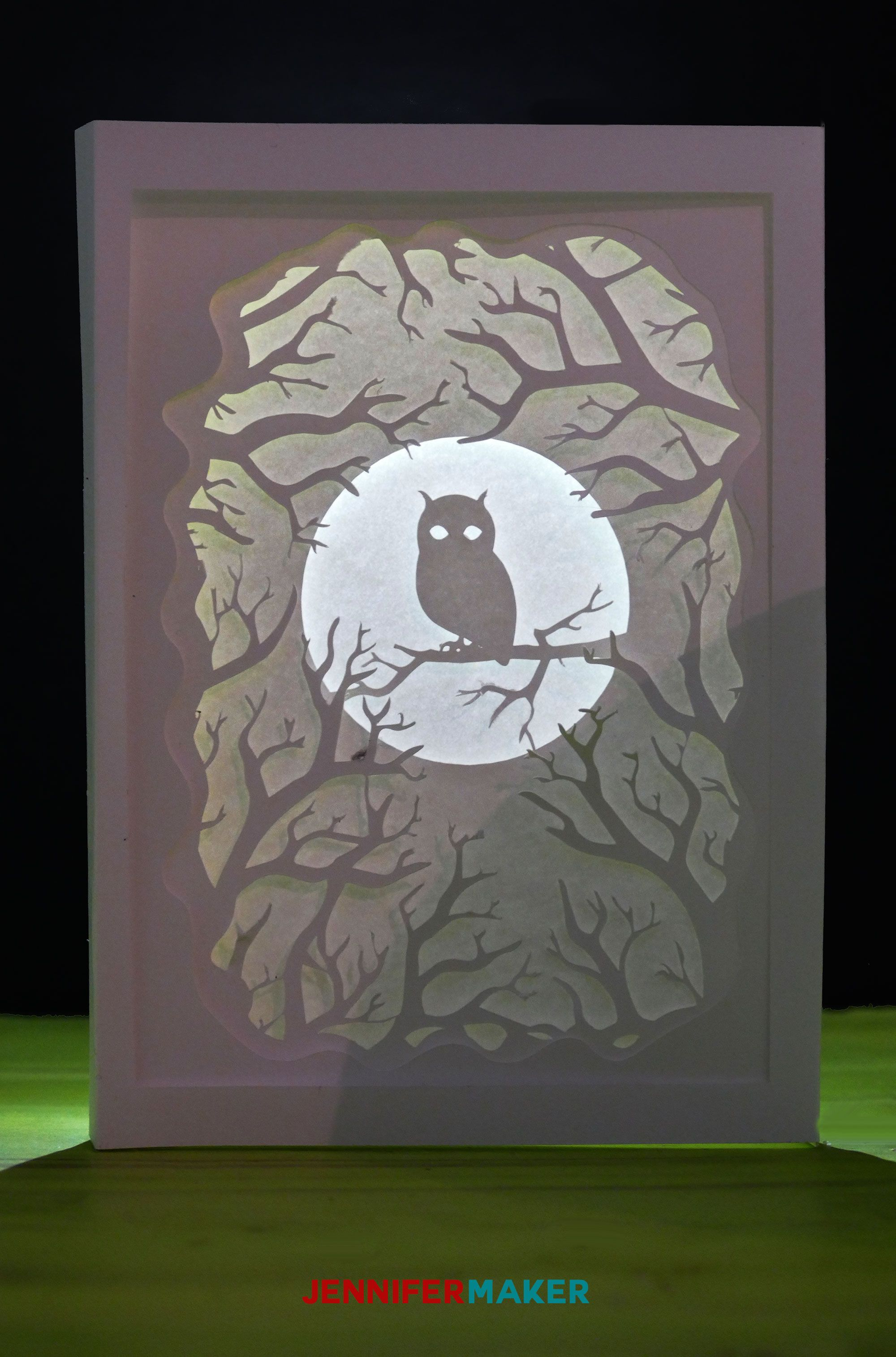 Owl Shadow Box Card for Autumn Jennifer Maker in 2020