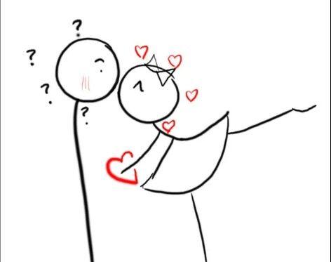 Beso Enamorados Rotulador Dibujos De Novios Garabatos De Amor Garabatos Simples