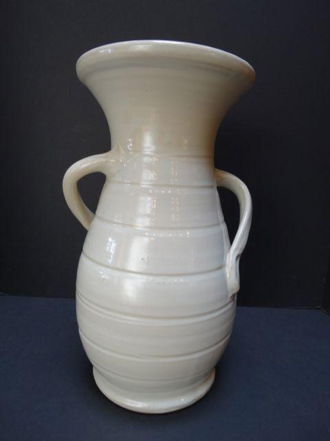 Bauer White Matt Carlton Hands On Hips Vase 14 High Mint Bauer