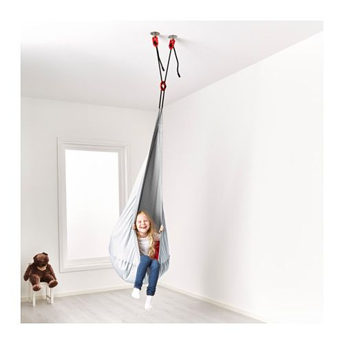 Ekorre hanging seat with air element ikea room for Chairs that hang from the ceiling ikea