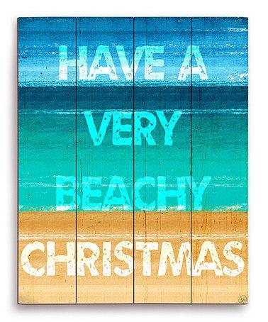 Image Canvas Sea Foam \u0027Have a Very Beachy Christmas\u0027 Wall Art