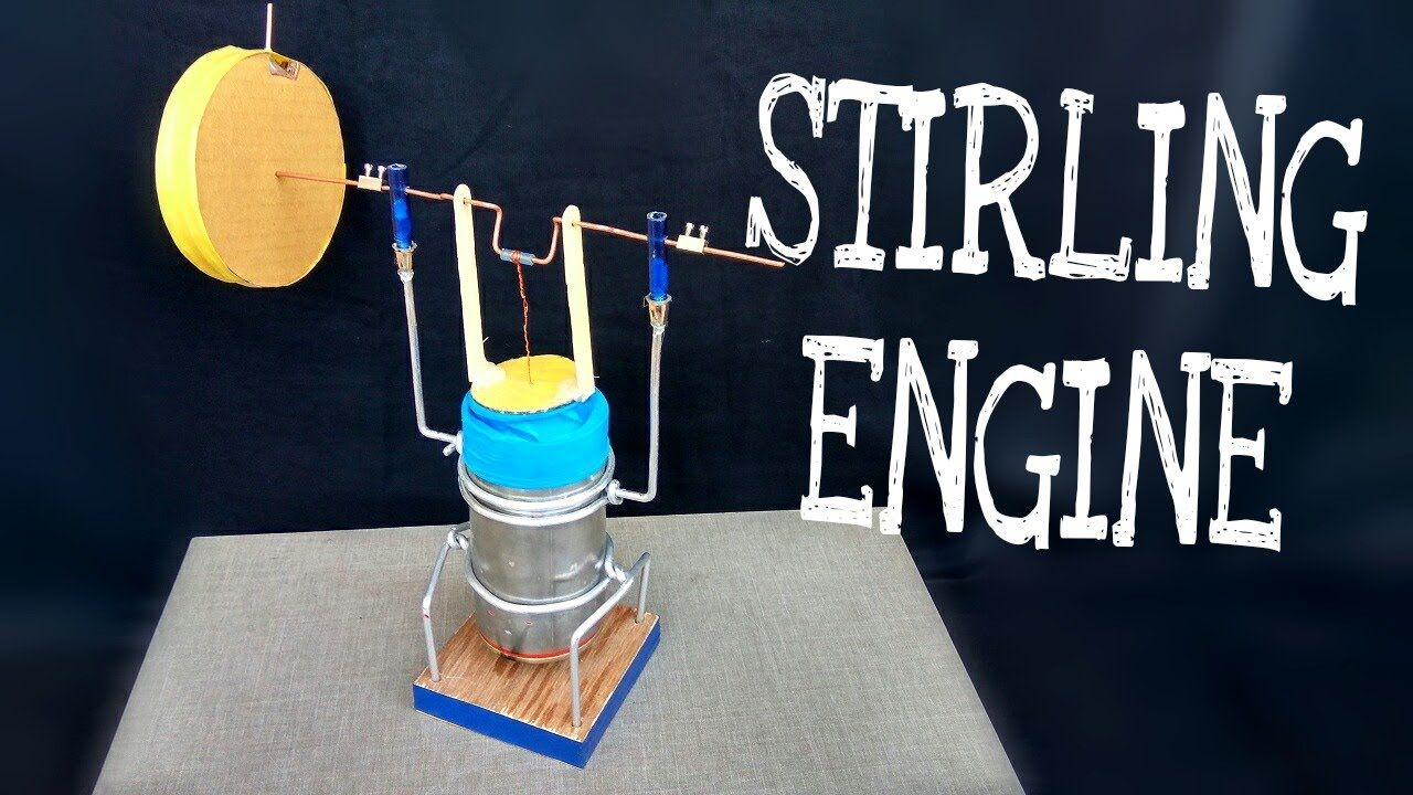How to make stirling engine amazing science project