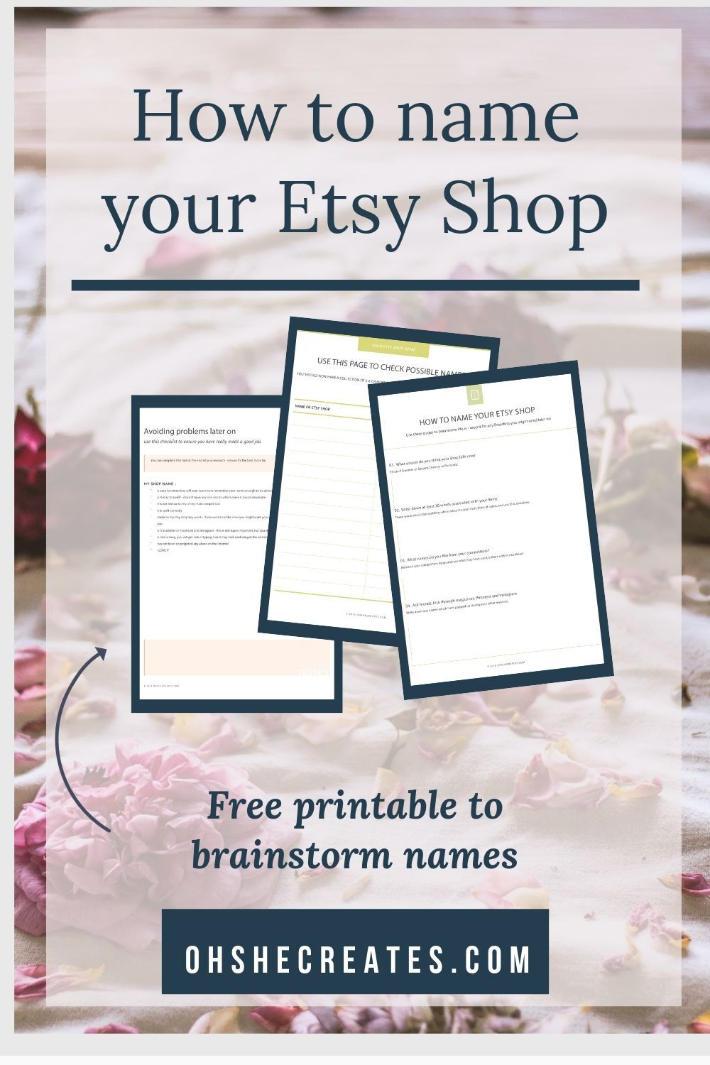 How to decide on your Etsy shop name Etsy shop names