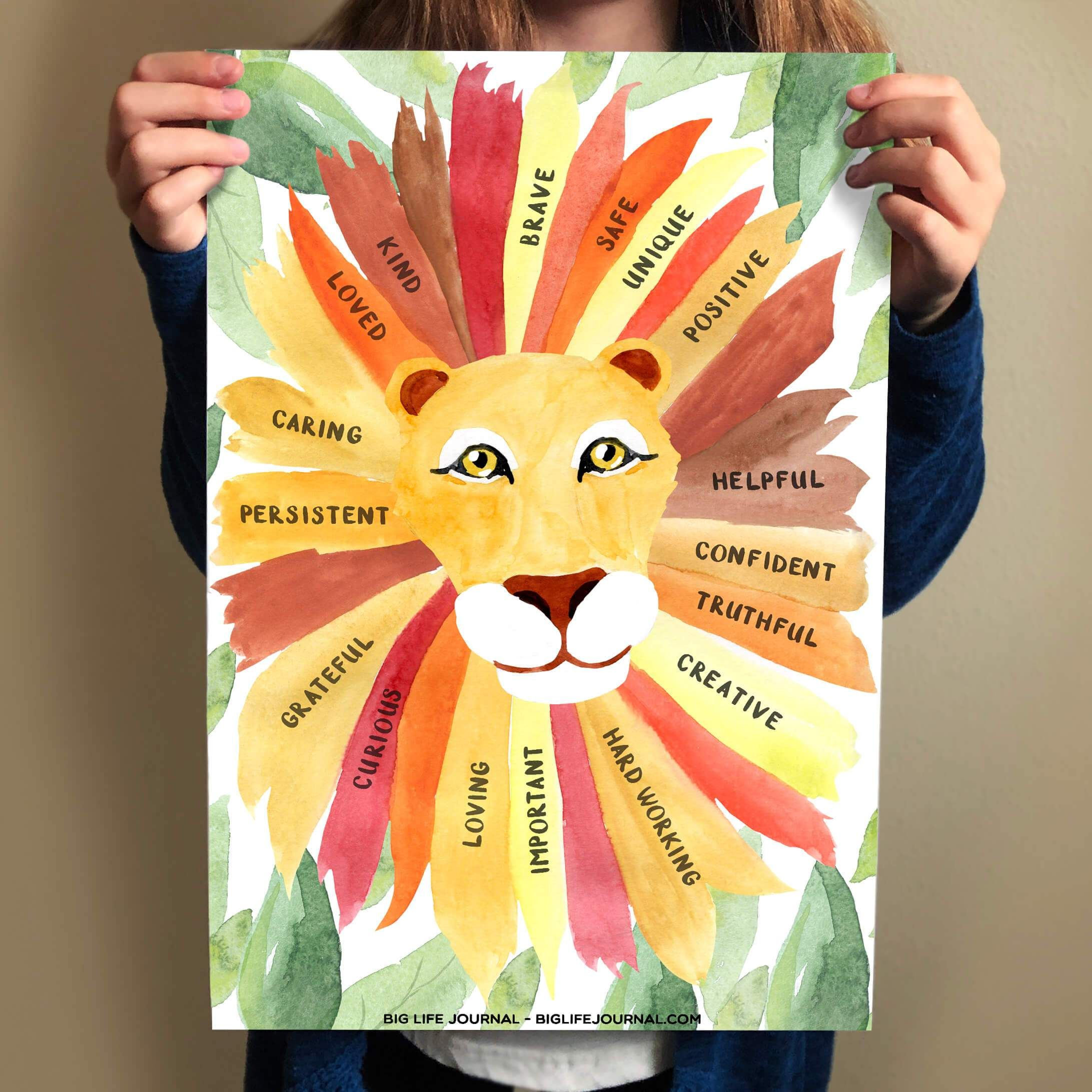 The Confidence Of A Lion Poster Hardcopy