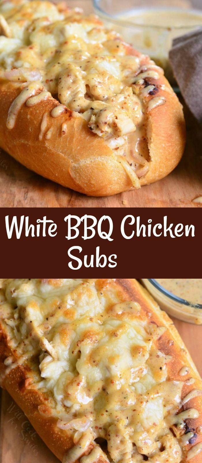 White BBQ Chicken Subs