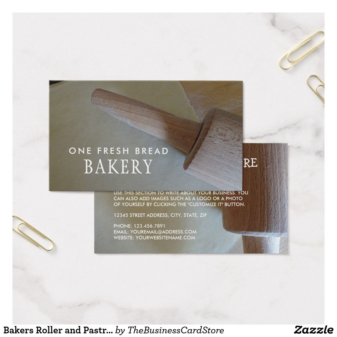 Bakers roller and pastry bakery business card bakery business bakers roller and pastry bakery business card colourmoves