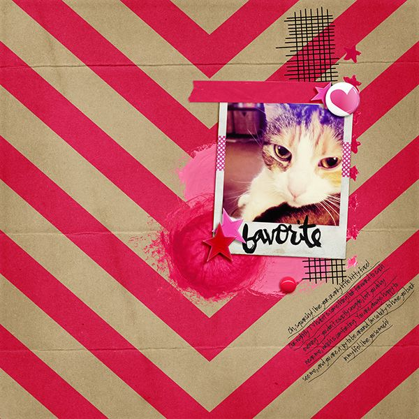 Favorite - digital scrapbook layout with October M3 Add-Ons by Just Jaimee