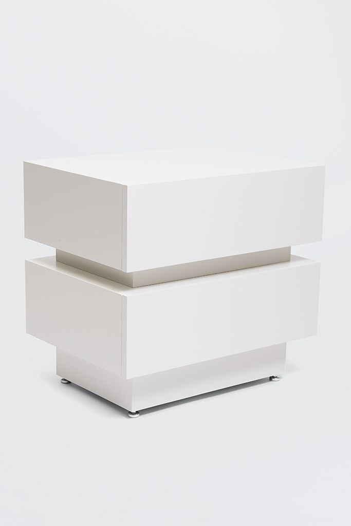 Stacked Box Nightstand Modern Nightstand Mid Century Modern Nightstand Contemporary Nightstand