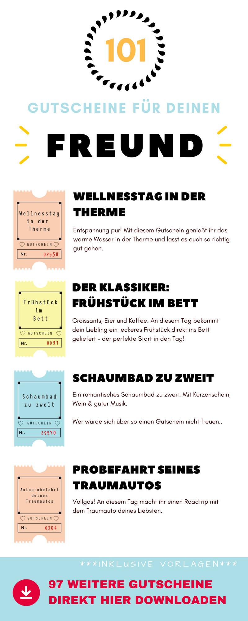 101 Gutscheine für deinen Freund – Ideen, Vorlagen und Tipps für ...