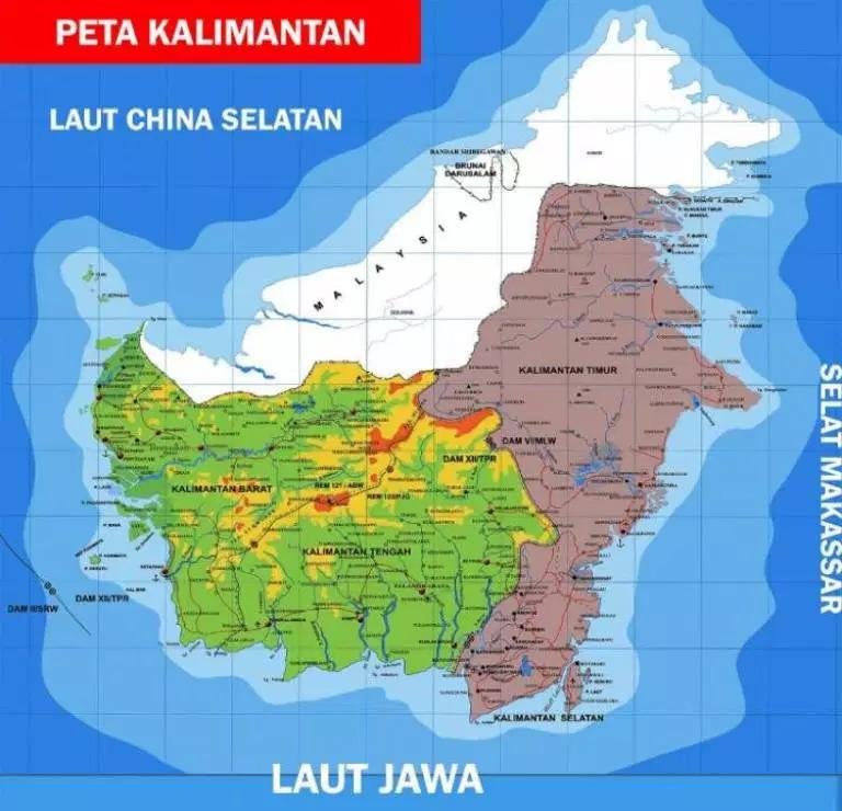 peta kalimantan dengan gambar kalimantan peta kartografi pinterest
