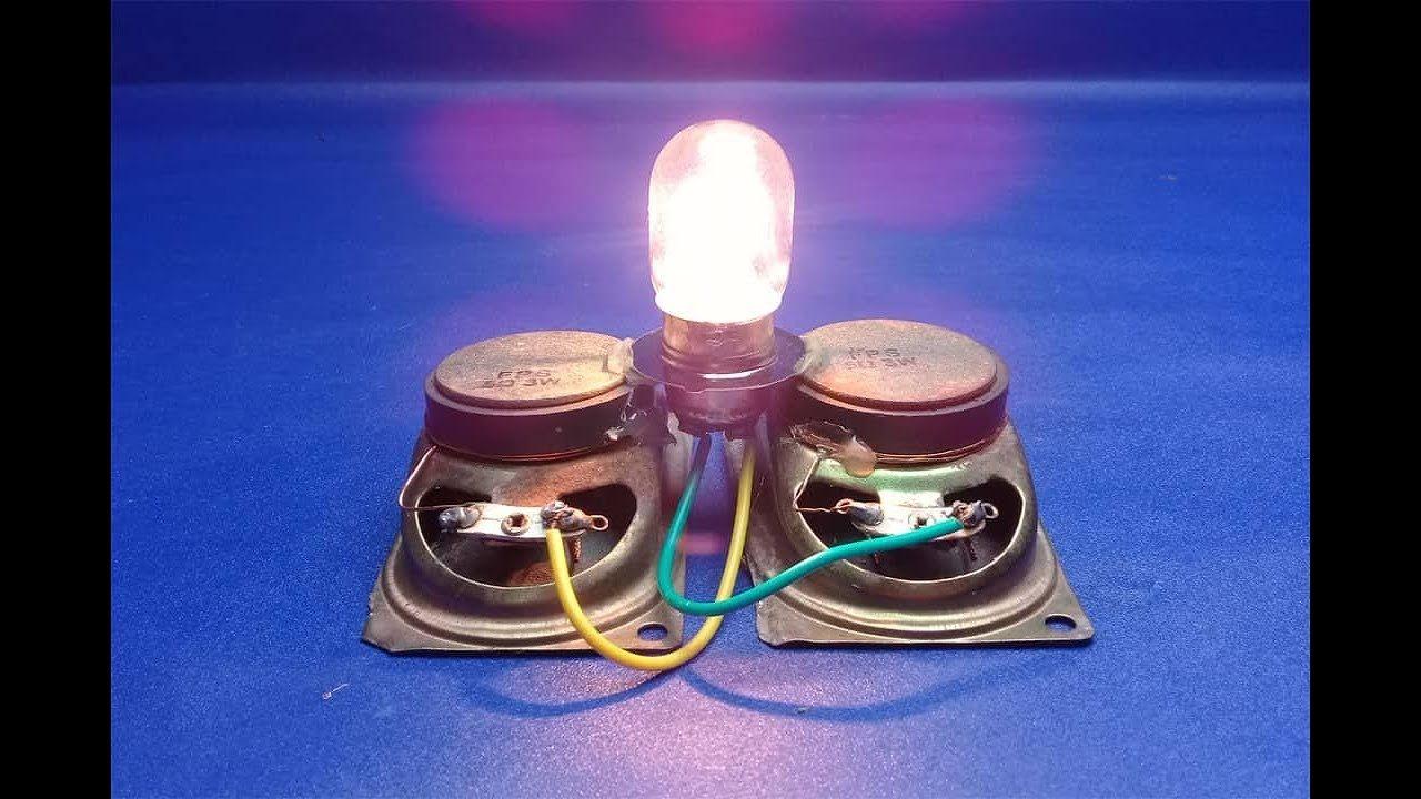 Kända How to make 100% free energy light bulbs generator with speaker IV-33