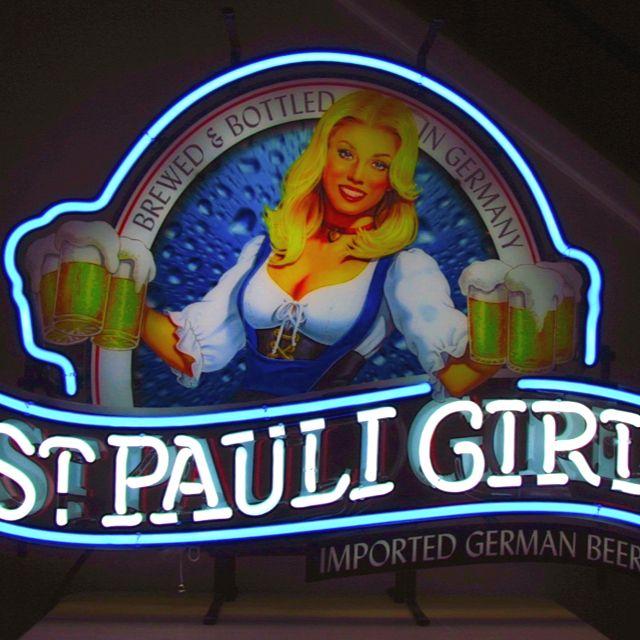 St. Pauli Girl Neon Beer Sign
