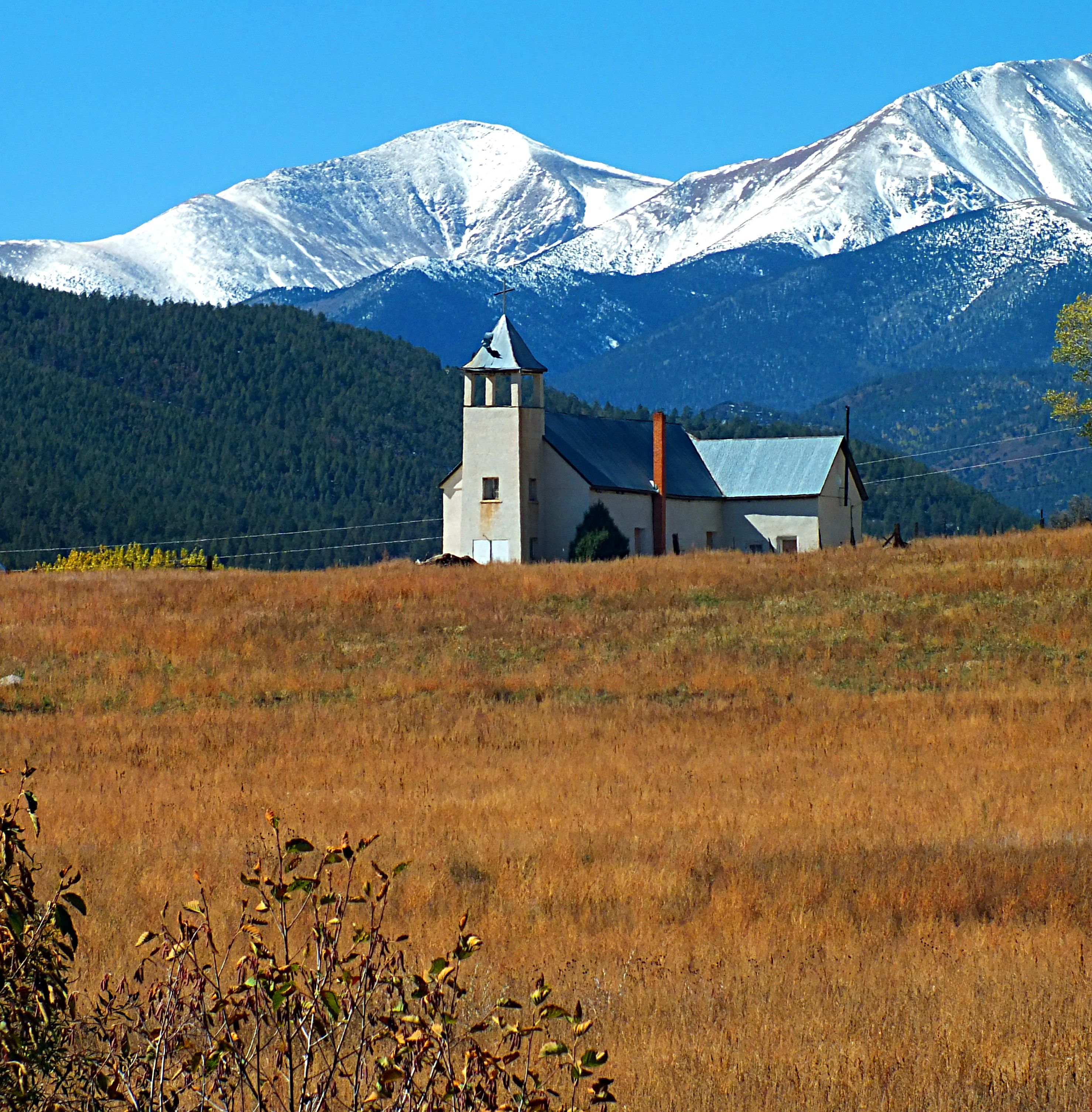 Old Church Vigil Colorado Highway Of