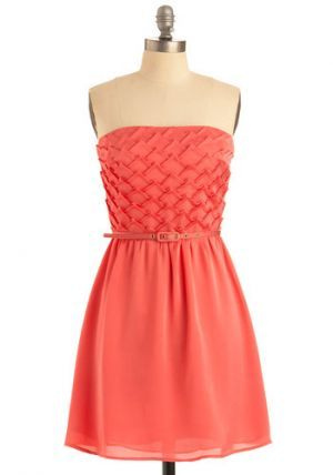 Pinnacles of Style Dress - Mod Retro Vintage Solid Dresses - ModCloth.com | http://mylusciouslife.com/colour-me-coral/