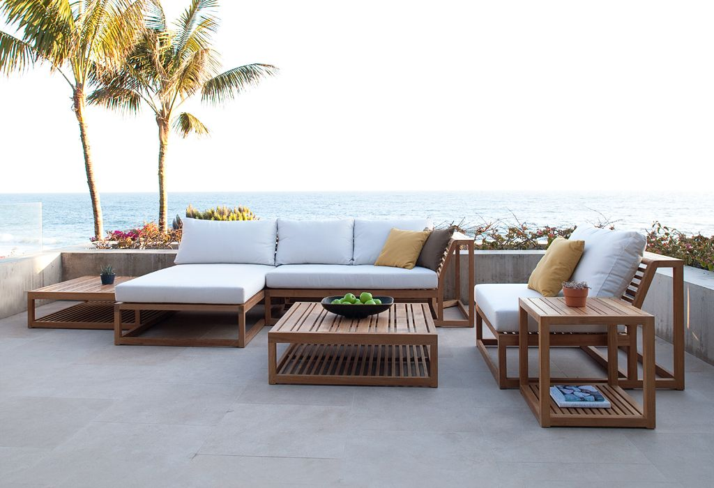 Maya Collection Teak Sectional Sofa Set