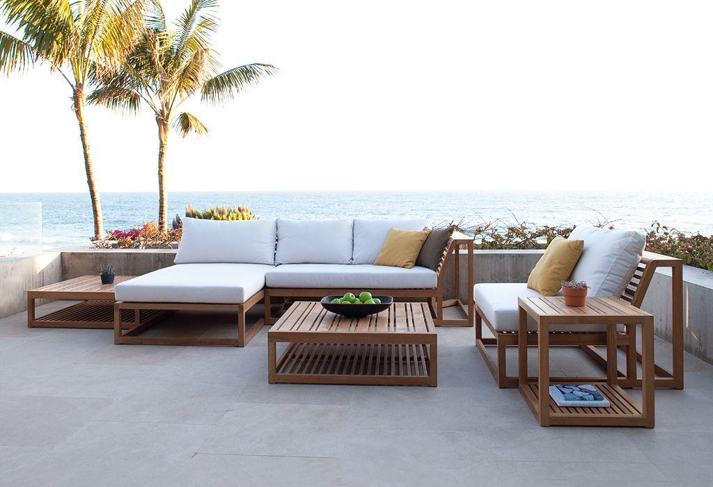 Maya Collection Teak Sectional Sofa Set Westminster Teak Teak Outdoor Furniture Outdoor Furniture Sets Modern Teak Outdoor Furniture