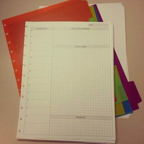 Diy Planner Templates  Arc Notebook Planner Inserts And Planners