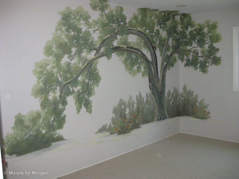 Tree Murals For Walls Oak Tree Nursery Hand Painted