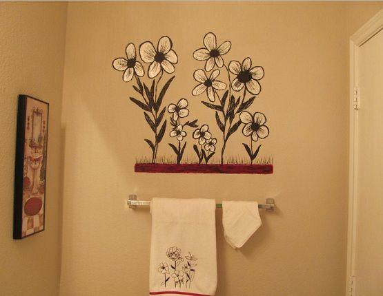 Creative Painting Bathroom Wall Home Interiors Painting Bathroom Walls Creative Wall Painting Painting Bathroom