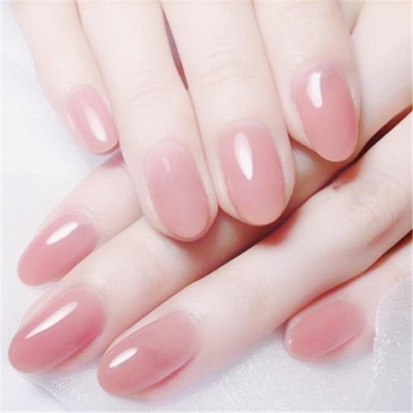 24pcs Fake Nail Short Specular Reflection Style White Pink Full Nail Art Tips Acrylic With Designs Rounded Acrylic Nails Long Acrylic Nails Pink Acrylic Nails