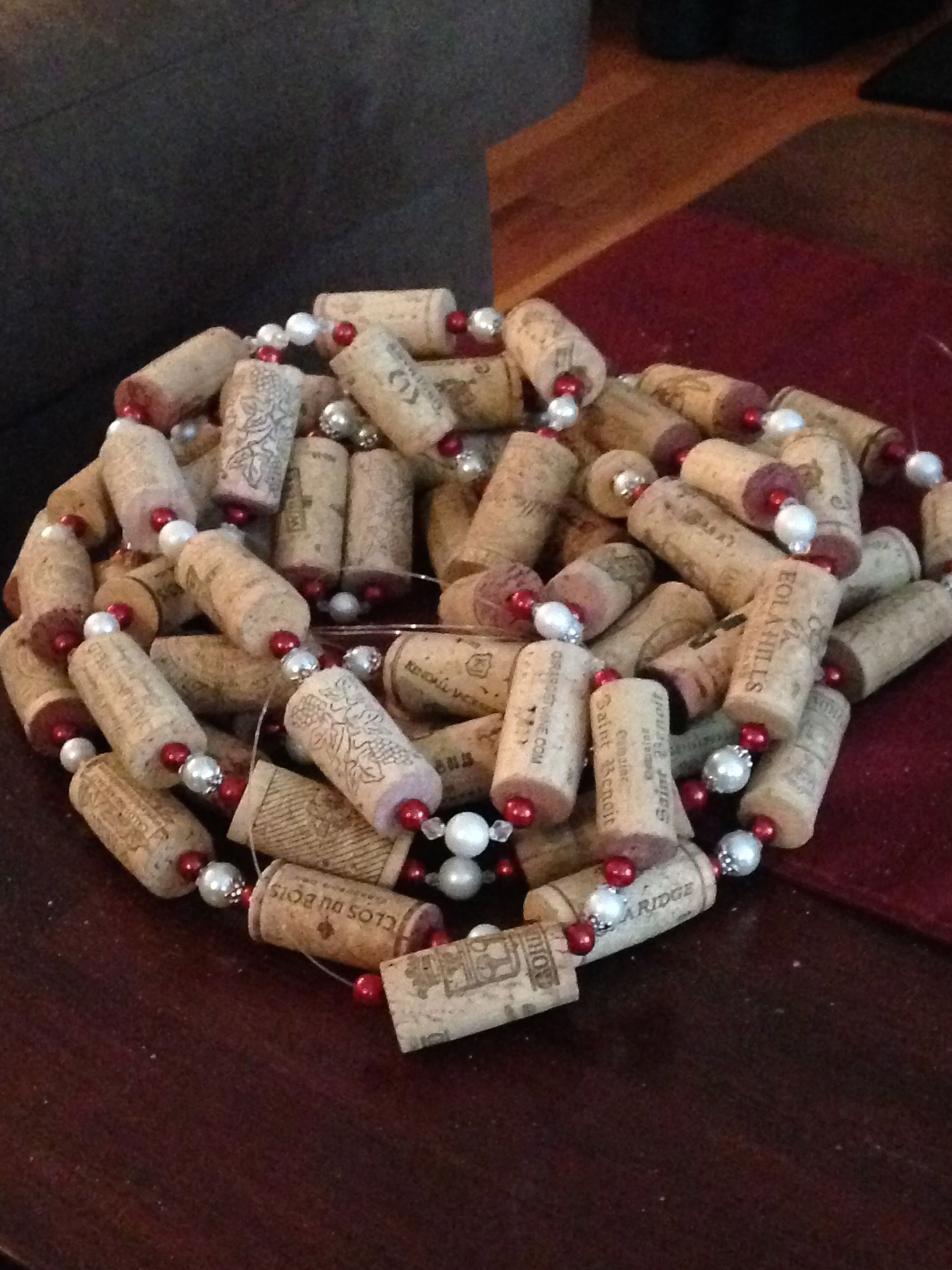 Handmade Wine Cork Garland For My Wine Themed Christmas Tree