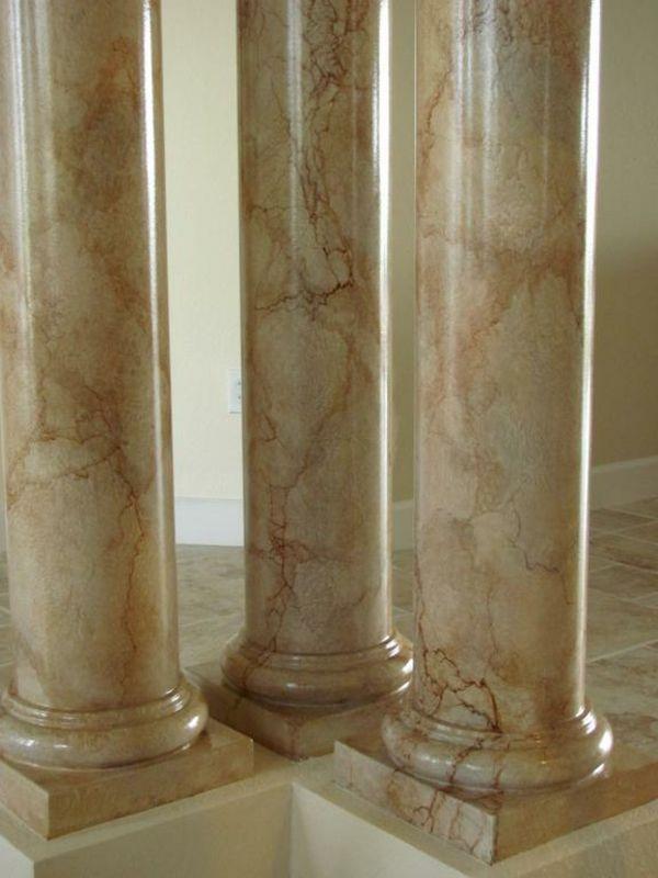 la peinture trompe l oeil imitation de marbre. Black Bedroom Furniture Sets. Home Design Ideas