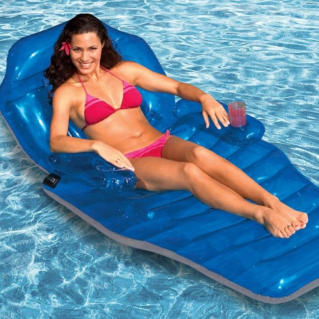 Poolmaster Adjustable Chaise Lounger   Swimming Pool Inflatable Bed   203cm