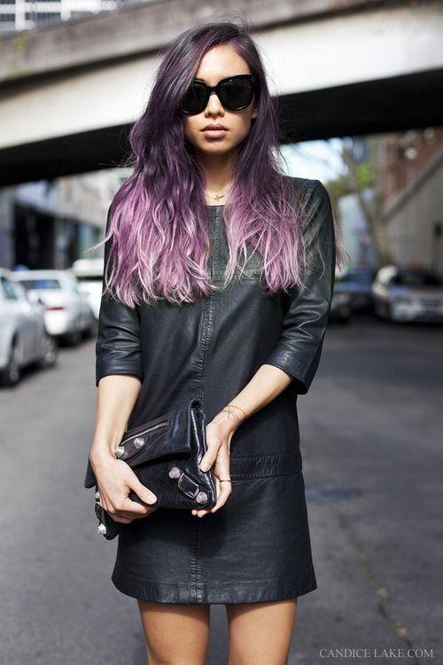 Stylish diy purple ombre highlights dark hair dye for round face stylish diy purple ombre highlights dark hair dye for round face girls with glasses diy pmusecretfo Image collections