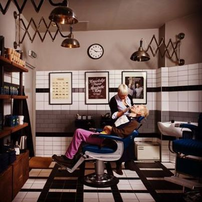 Great interiors in Ruffians Barbers, the cool barber shop in Edinburgh [and now London]... probably why they won Salon Design Award at the 2013 British #Hairdressing #Business #Awards.