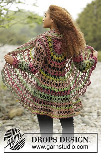 Ravelry: 171-21 Fall Festival pattern by DROPS design | Crochet Coat ...