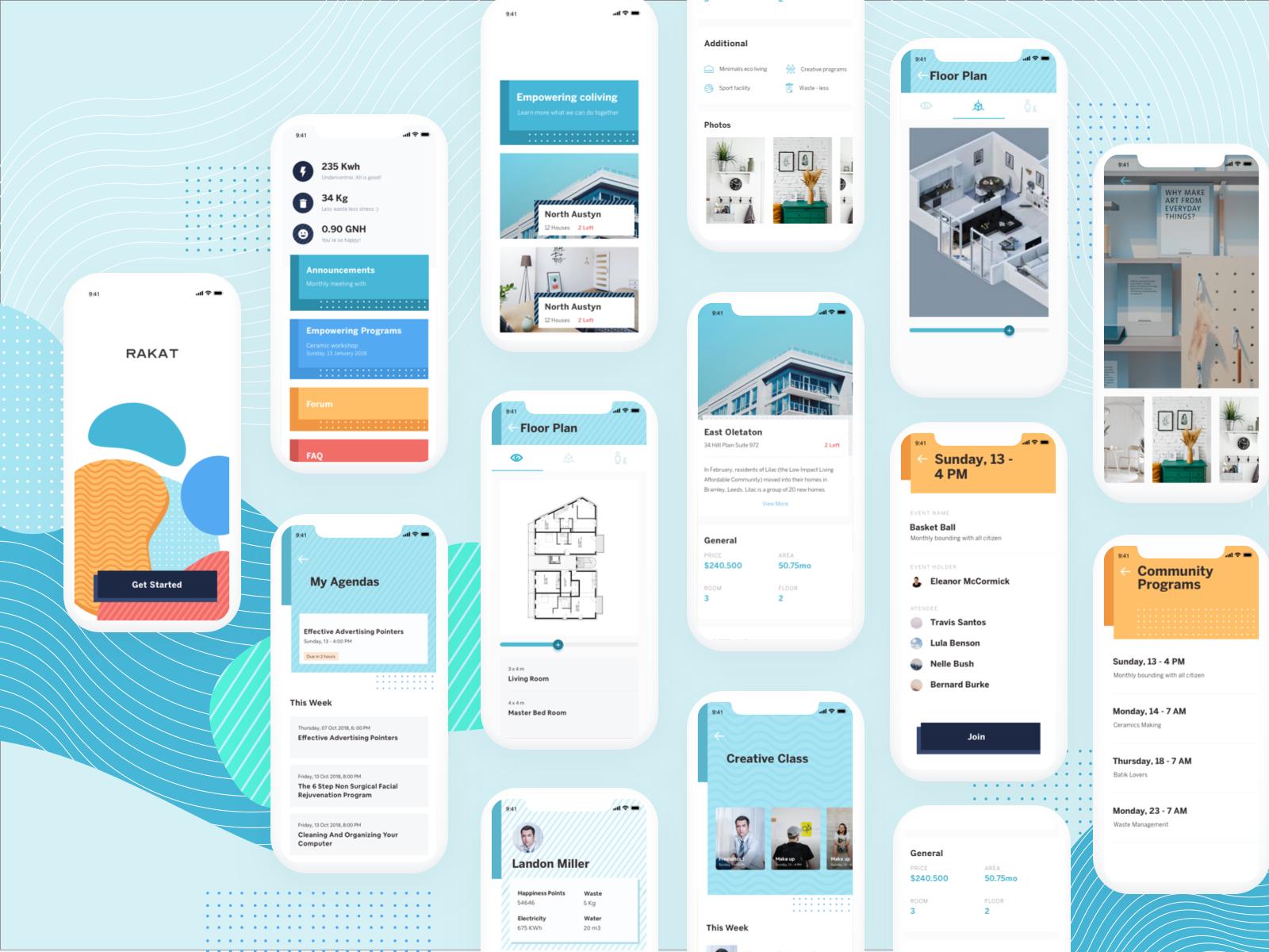 Cohousing Application Mobile Application Application Design Finance Dashboard