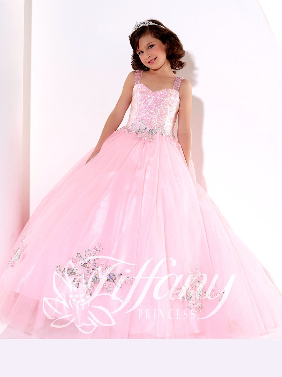 Tiffany Princess Pageant Dress 13395 | Pink Pageant Dress For Girls ...