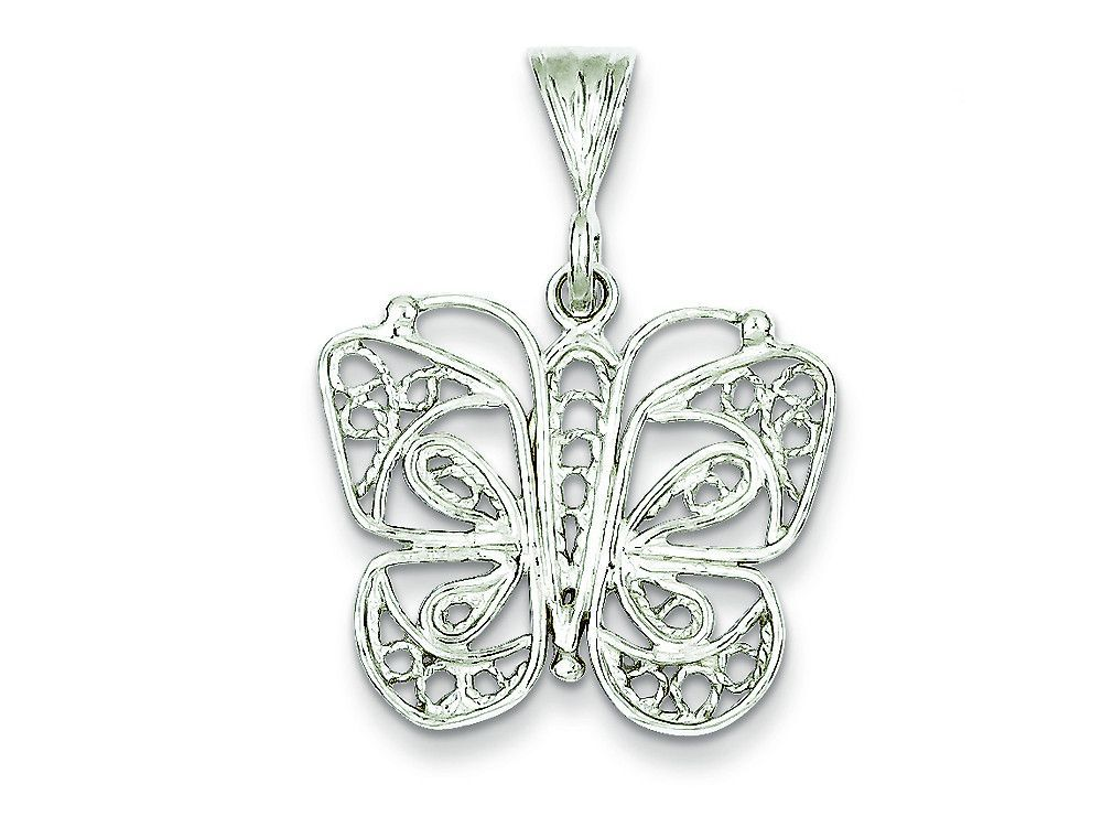 The beautiful Sterling Silver Butterfly Charm, crafted in 925 Sterling Silver. This design measures 25.00 mm wide, 32.00 mm long. GIFT CARD OPTION WILL NOT BE AVAILABLE FOR THIS ITEM!