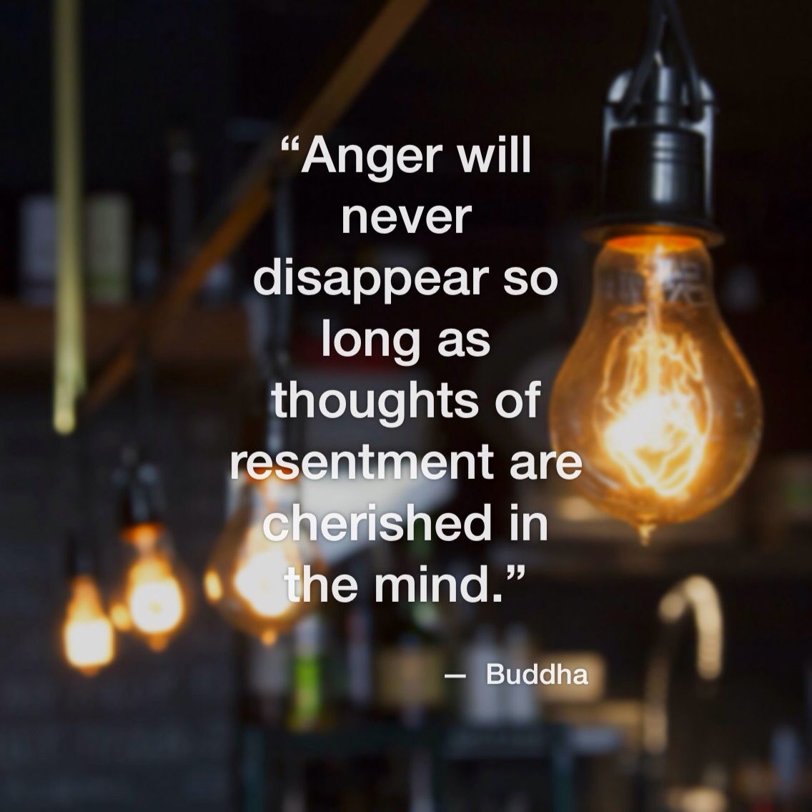 Being angry of something in the past is a weight that keeps you from moving forward into the future...