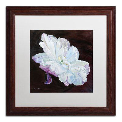 """Trademark Art 'Hope' Framed Painting Print Mat Color: White, Size: 16"""" H x 16"""" W x 0.5"""" D"""