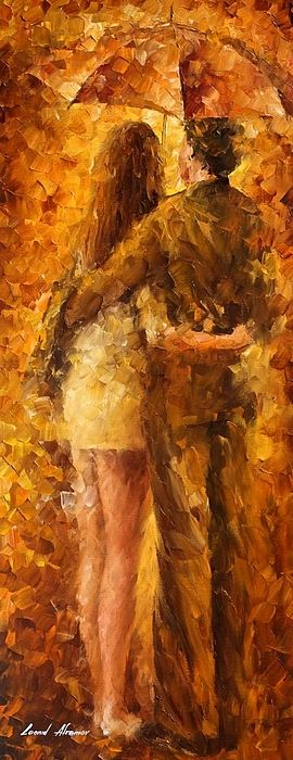 Hug Under The Rain - by Leonid Afremov