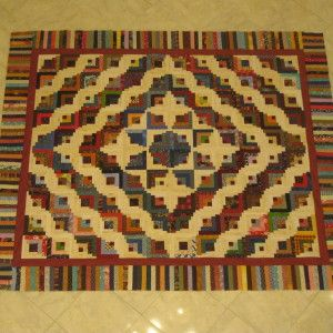 curved log cabin quilt | Shirley Anne's Heart