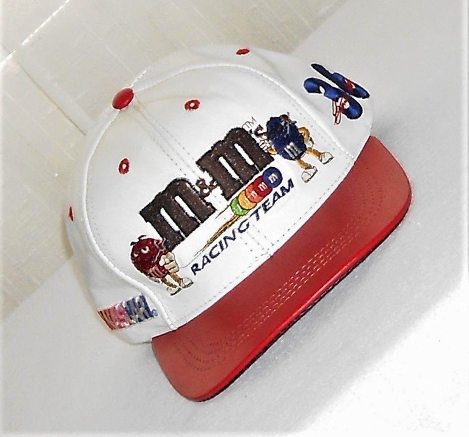 90f743e841b M   M NASCAR Racing  36 Ernie Irvan Vintage Beige   Red Leather Vented Hat  USA  JHDesign  TruckerBaseballStyleHatCap