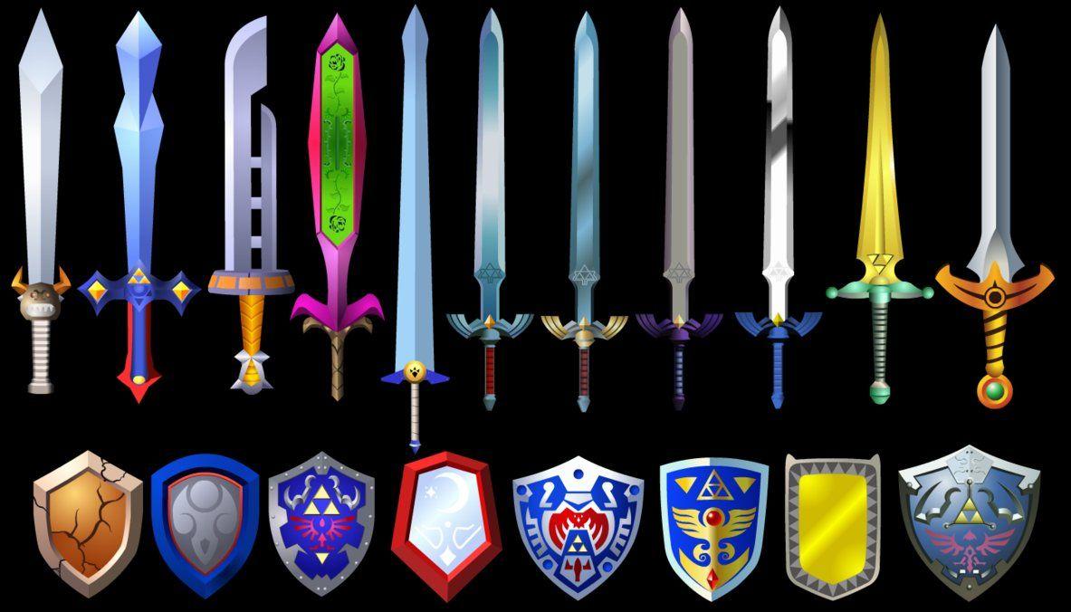 Zelda Swords and Shields 2 by on deviantART (med