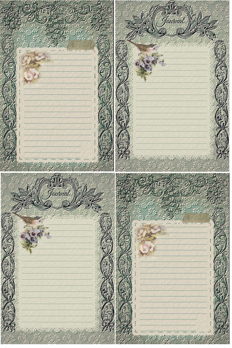 Vintage In Teal Journal Cards Vintage Junk Journal Journal Cards Vintage Journal
