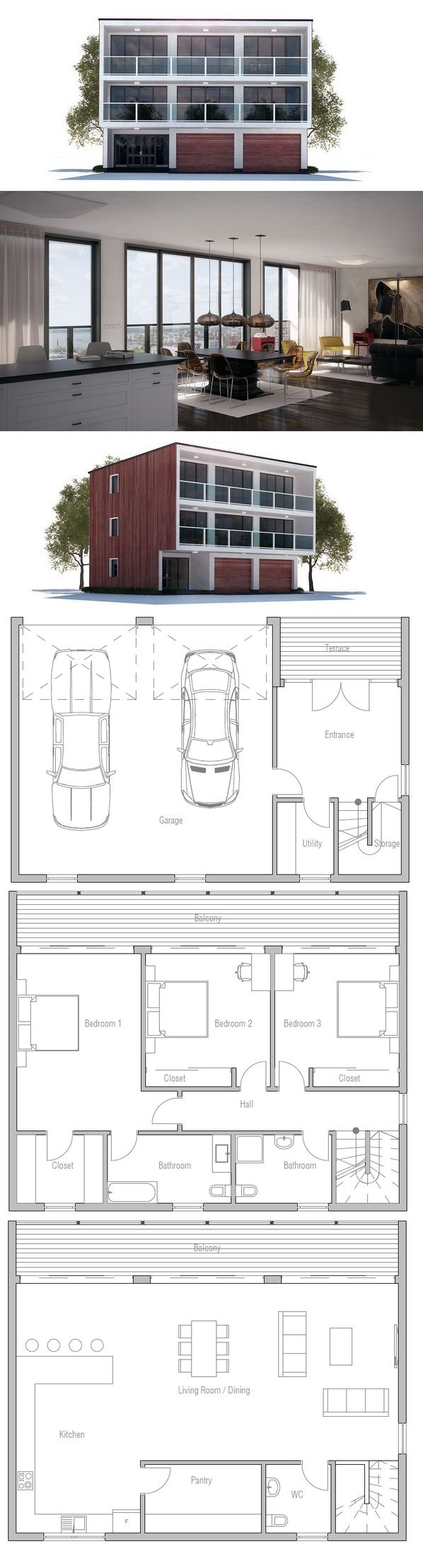 Upside down house living room on top perfect for the for Upside down beach house plans