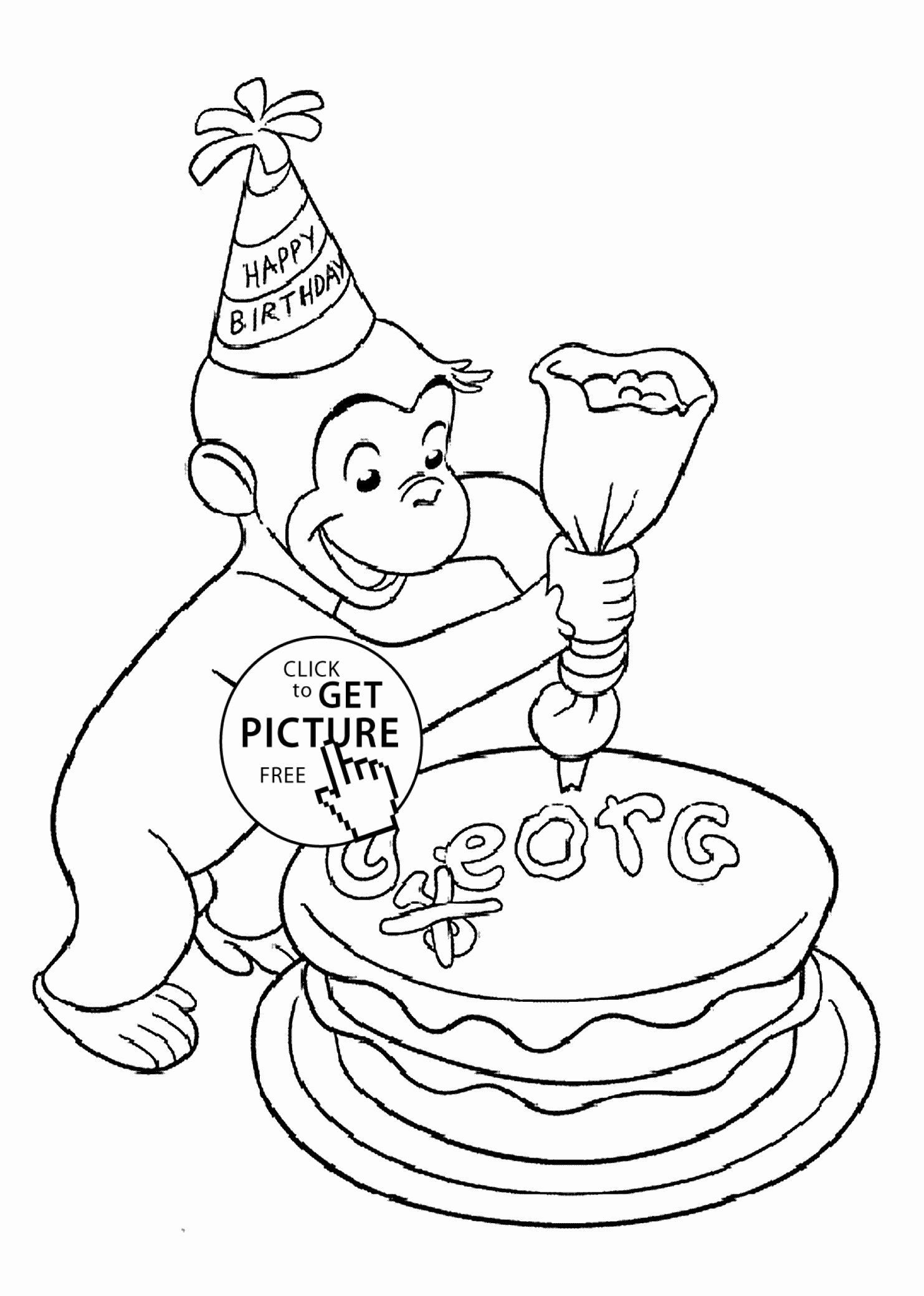 27 Curious George Coloring Book In